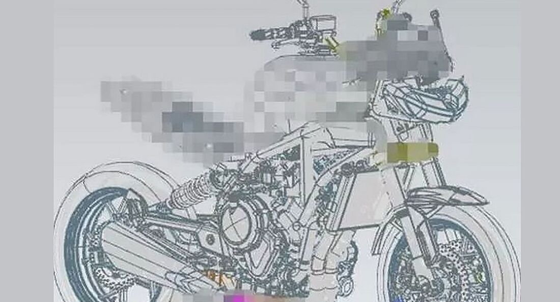 Zongshen Patentzeichnung Norton Zweizylinder