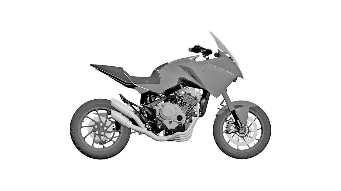 honda patent 4-zylinder adv bike