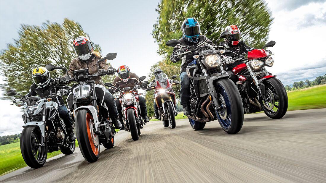 Test 48 PS Motorräder 2017 für A2-Führerscheinbesitzer