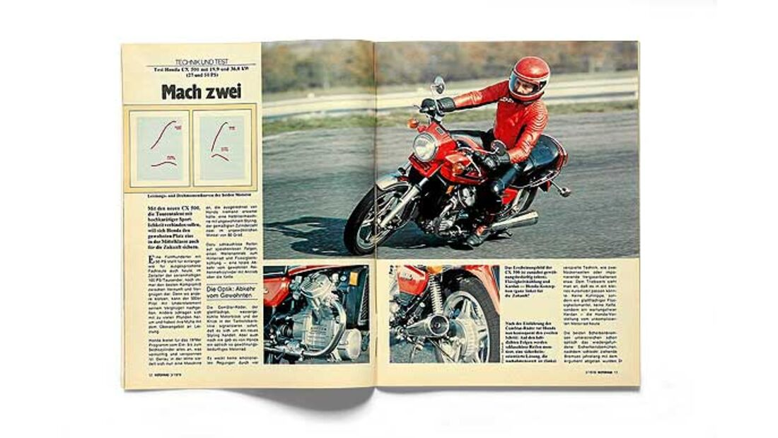 1978: Erster Test der Honda CX 500   MOTORRADonline.de