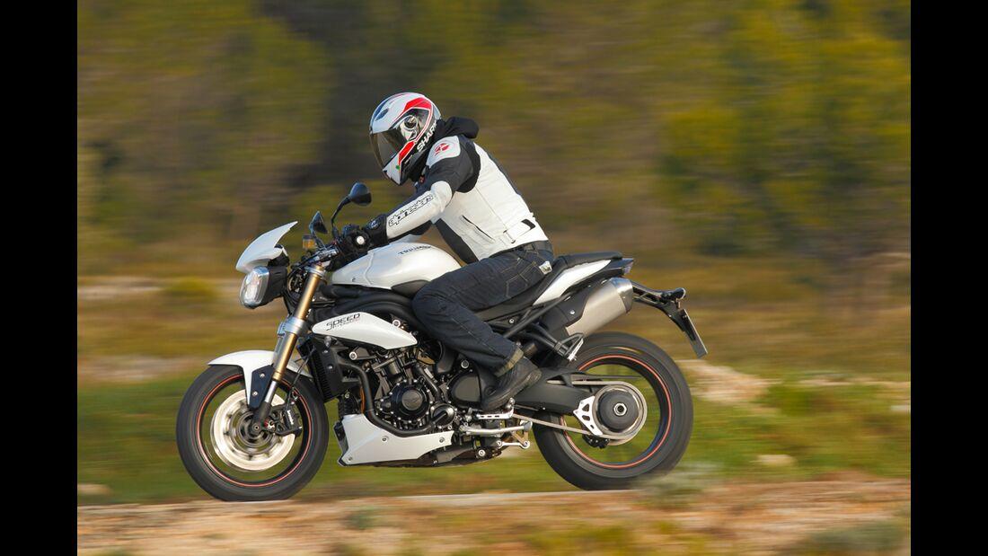 BMW R 1200 R, Triumph Speed Triple und Honda CB 1000 R im
