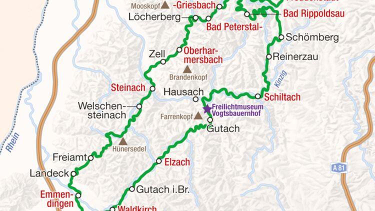 Berge Um Freiburg Karte.Touren Tipp Motorradfahren Im Schwarzwald Motorradonline De