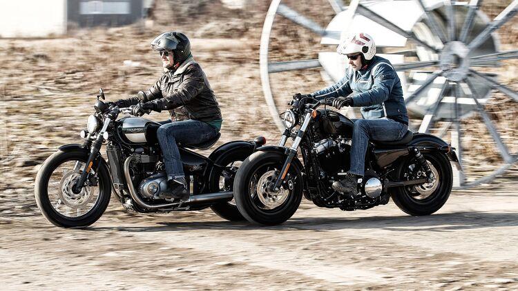 Test Harley-Davidson Forty-Eight Triumph Bobber