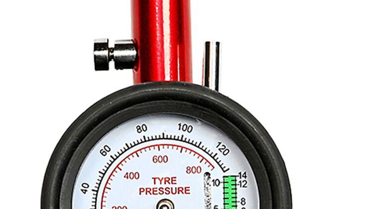 0,05 Skala 0-4 bar Luftdruckprüfer,Luftdruckmesser für Kart Reifen /& Felgen