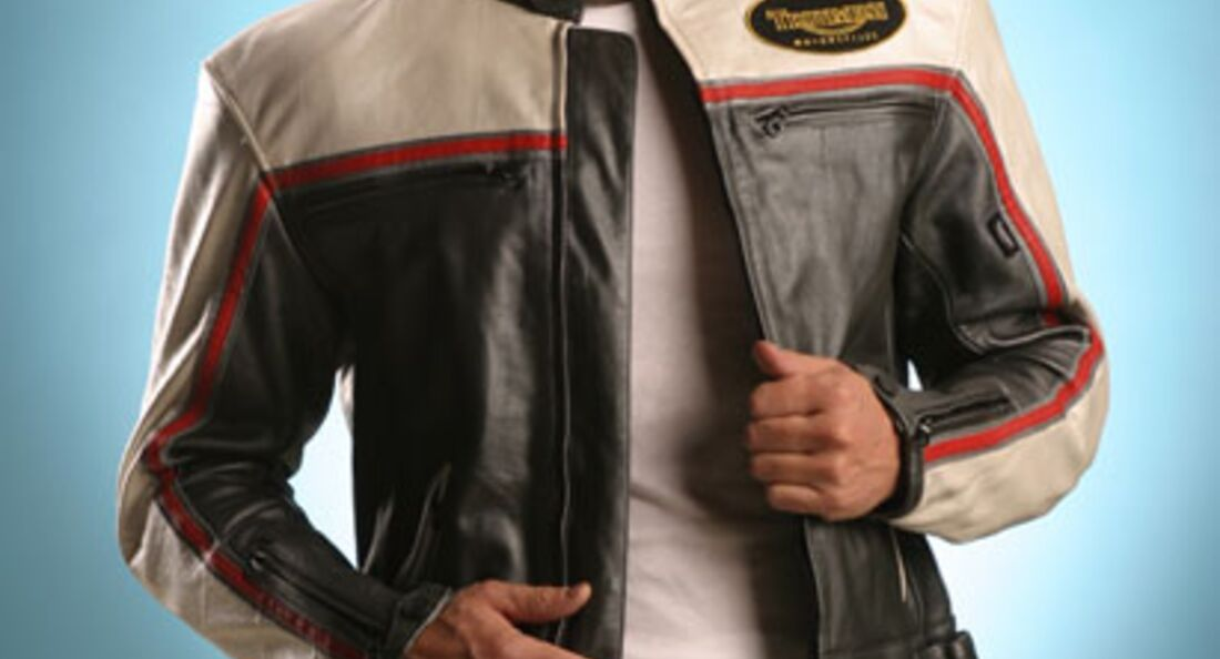 Bogotto Brooklyn Motorrad Lederjacke 52 Schwarz